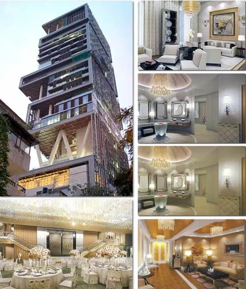 Billion dollar house india pictures places